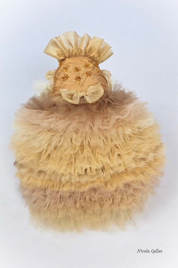 Golden Couture Dress from Deni Alexander