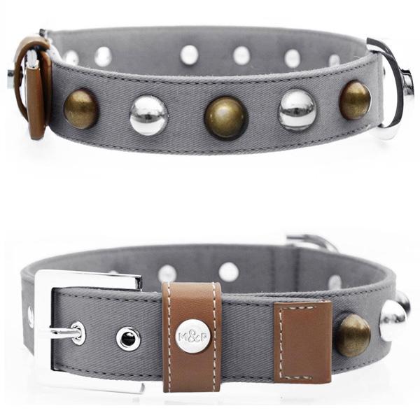 Grey Balls collar from Milk & Pepper designs - Paris, France