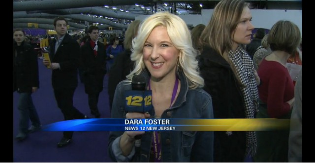 News 12 Reporter Dara Foster Backstage at Westminster Dog Show 2013