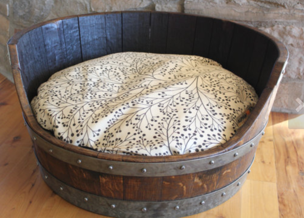 PupStyle Home: Wine Lovers Reclaimed Wine Barrel Dog Beds